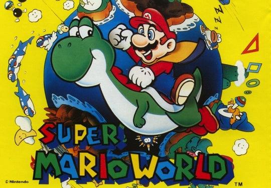 Super Mario World Logo (Japanische Verpackung)
