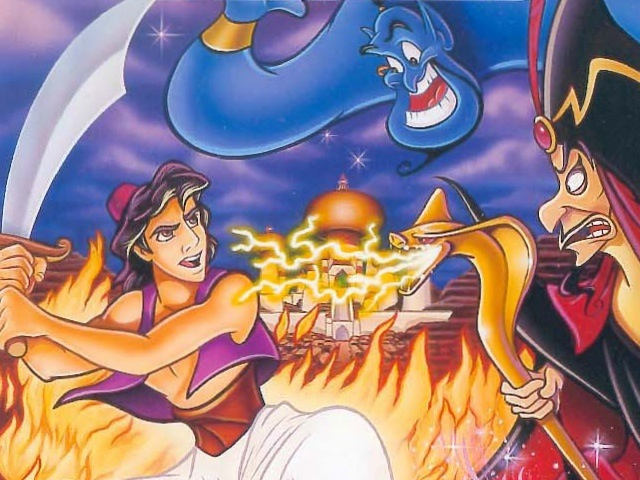 Aladdin Mega Drive Cover