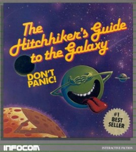 Hitchhiker's Guide to the Galaxy Text-Adventure Cover